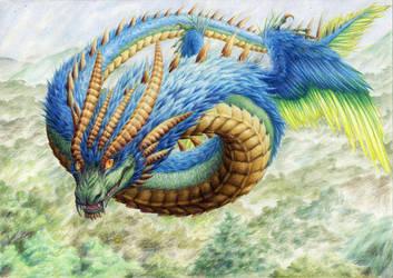Quetzalcoatl by uhuco