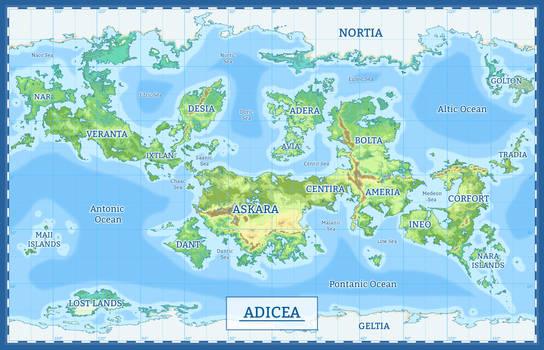 Map of Adicea by Panipani