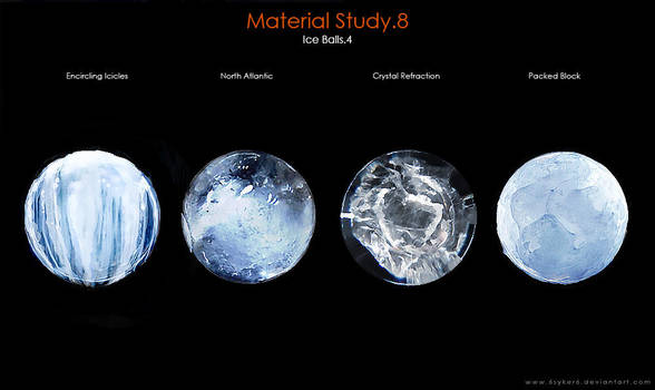 Material Study.8 [Ice Balls.4] by SaxonSurokov
