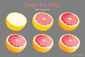 Step by step Half Grapefruit by SaxonSurokov