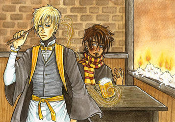 Dunklayth's OC fanart: Akman and Soren by Clef-en-Or