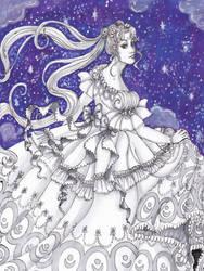 Rococo Princess Serenity (Original for Sale) by misellapuella