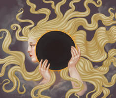 Lady of the Solar Eclipse by misellapuella