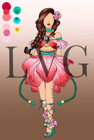 Floral Charm   OUTFIT AUCTION - OPEN by LittleVioletGhost