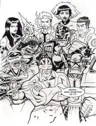 Comic Box Flyer INKS by Natephoenix