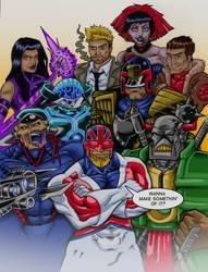 Comic Shop Flyer - British Comic Heroes by Natephoenix
