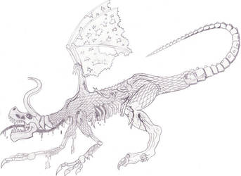 Zombie Dragon by tigerberry