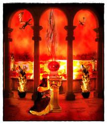 Pilar del fuego by Alunethia