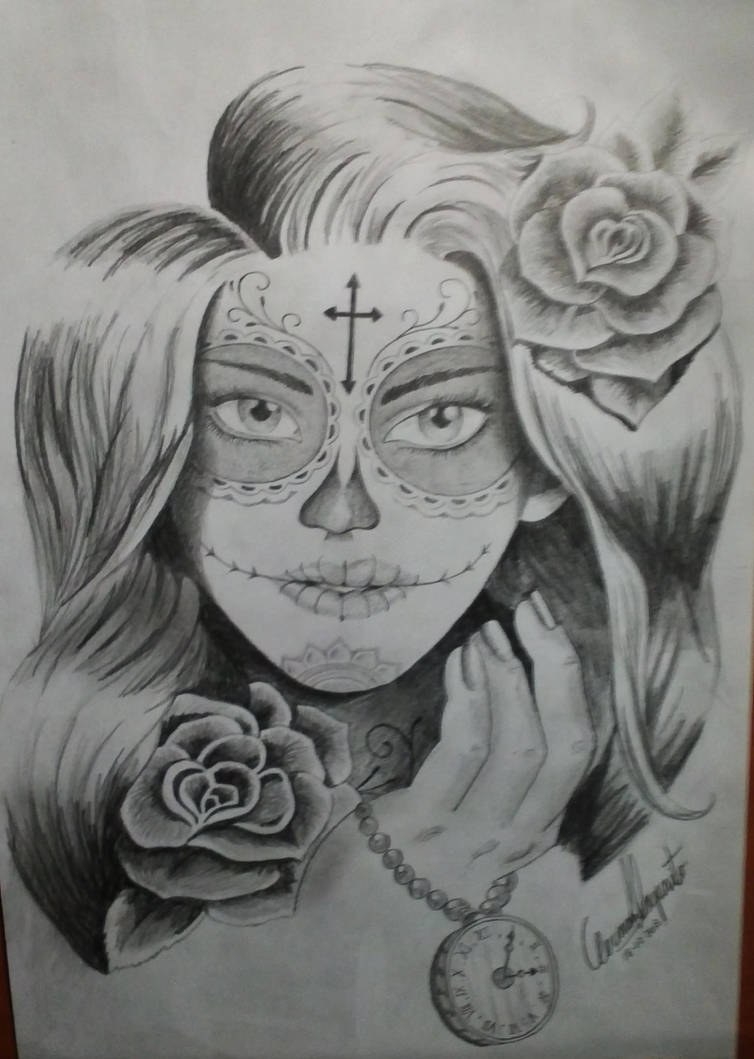 Santa Muerte Creada Por Mi Para Tatuar By German22101991 On Deviantart