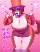 Happy New Year! 2018 by chimotako
