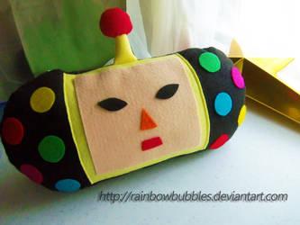 Dipp Fan Plush Pillow by Rainbowbubbles