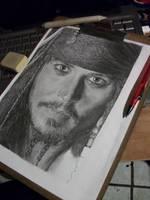 WIP Johnny Depp- Jack Sparrow by LaPicher