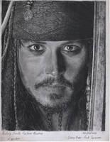 Johnny Depp- Captain Jack Sparrow Portrait by LaPicher