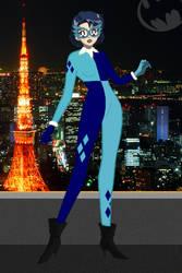 Sailor Mercury/Mizuno Ami as Harley Quinn by Boreinotwilight
