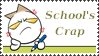 School's crap stamp by Kleepaa
