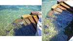 Stairs in Water by PirateLotus-Stock