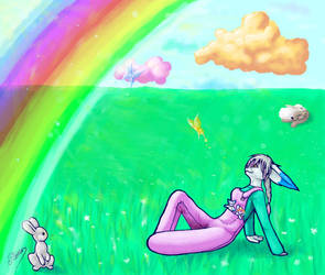 A rainbow for Yolin by Ronjanade