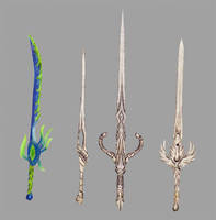 Ancient blades stack by Random223