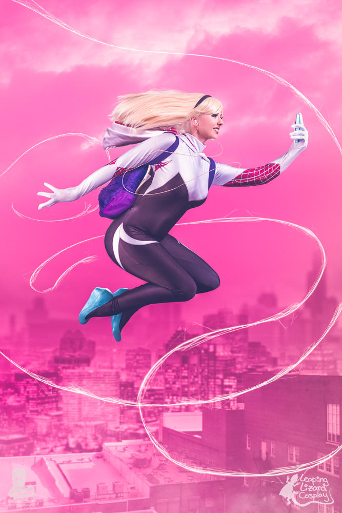 Spider Gwen Selfie by LeapingLizardCosplay