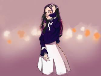 Random girl painting  by Nearys