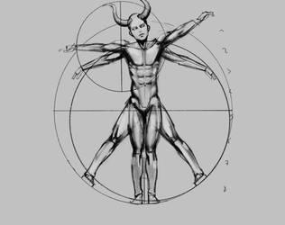 My version of the Vitruvian man by Nearys