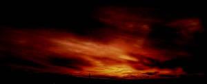burning sky by Die-Schadenfreude