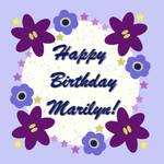 Happy Birthday Marilyn! by Shirley-Agnew-Art