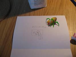 Spyda on my papers by Scarzzurs