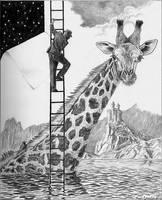 Loch Ness Giraffe by marcgosselin
