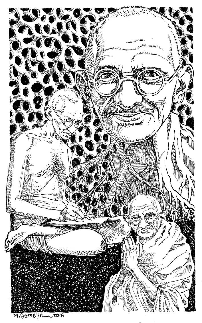 Gandhi by marcgosselin