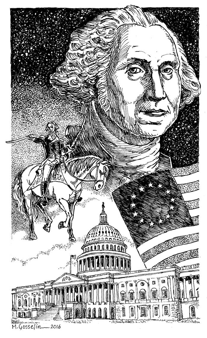 George Washington by marcgosselin