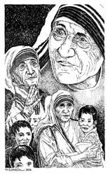 Mother Teresa by marcgosselin