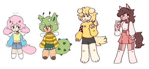 Coolio collab adopts (auction) - OPEN + AB ADDDED by bobitea