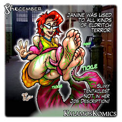 Tickling FanArt - Vintage Janine from Ghostbusters by Kalamos