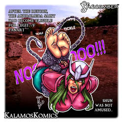Tickling FanArt - Female Andromeda Shun in Chains by Kalamos