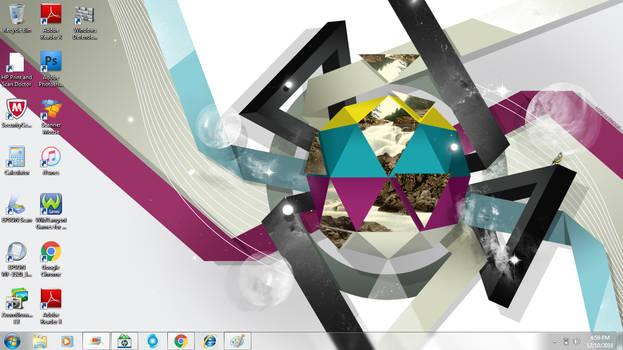 Windows 7 Home Premium SP1 x64 Desktop. by ShermanShermanXFive
