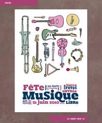 Fete de la Musique - Affiche by nicosaure