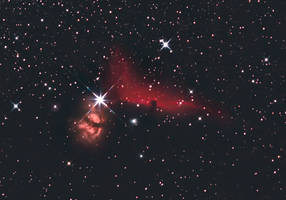 Horsehead nebula in Orion by rollarius55