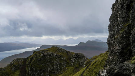 Loch Leathan (seen from the Old Man of Storr) by rollarius55