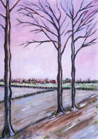 Three trees waiting for winter end by rollarius55