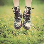 flowers on my feet by bwaworga