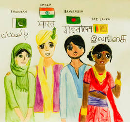 Anthropomorphic South Asian Countries by Aztecatl13