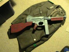 Thompson submachine gun prop by PanzerForge