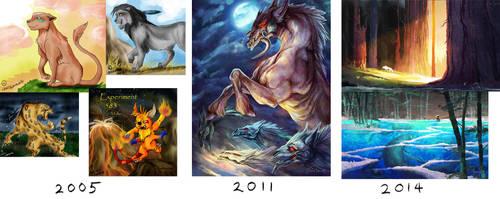 Art Timeline Comparison.... :U by FionaHsieh