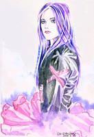 girl in watercolor by comeonovercn