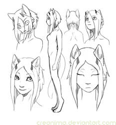 anthro sketches by creanima
