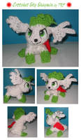 Crotchet Sky Shaymin by teenagerobotfan777
