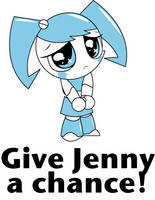 'Give Jenny a chance' design by teenagerobotfan777