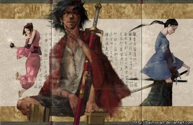 samurai champloo by baimonart