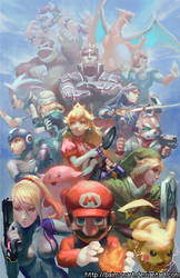 super smash brothers by baimonart